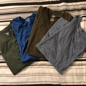 MOSSIMO four solid v- neck tees  All LG